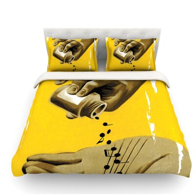 Music as Medicine by Thomas Fuchs Featherweight Duvet Cover Size: King