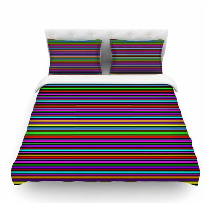 Kolor by Trebam Stripes Featherweight Duvet Cover Size: King