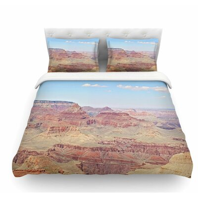 Grand Canyon Panoramic by Sylvia Coomes Nature Travel Featherweight Duvet Cover Size: King