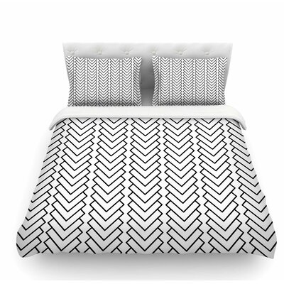 Kamara by Trebam Chevron Featherweight Duvet Cover Size: Queen