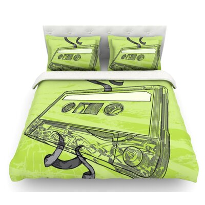 Mixtape by Sam Posnick Featherweight Duvet Cover Size: King