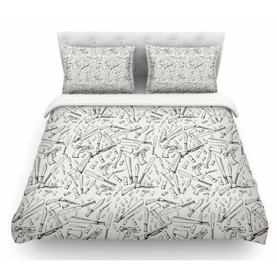 Apocalyptic Weapons by Stephanie Vaeth Urban llustration Featherweight Duvet Cover Size: Twin