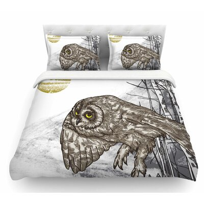 Midnight Marauder by Sam Posnick Featherweight Duvet Cover Size: King
