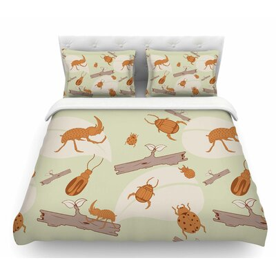 Beetles by Stephanie Vaeth Nature Featherweight Duvet Cover Size: Twin