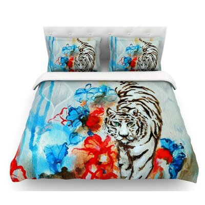 Tiger by Sonal Nathwani Featherweight Duvet Cover Size: Twin
