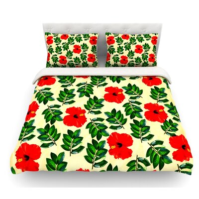 No More Peonies by Sreetama Ray Featherweight Duvet Cover Size: King
