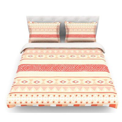 Mojave by Skye Zambrana Featherweight Duvet Cover Color: Orange/Red, Size: King