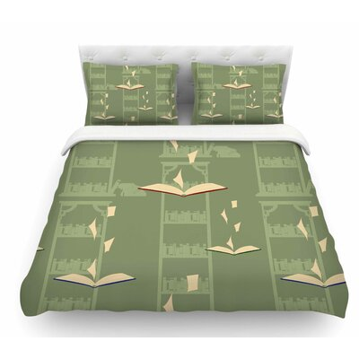Library by Stephanie Vaeth Digital Featherweight Duvet Cover Size: Queen