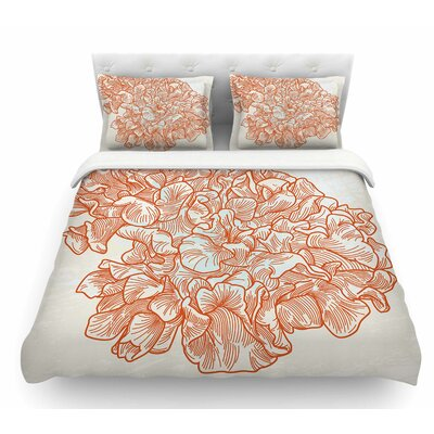 Lettuce Coral by Sam Posnick Featherweight Duvet Cover Size: Queen