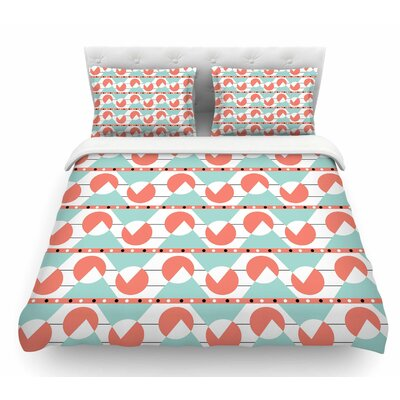 Geometric by Stephanie Vaeth Coral Featherweight Duvet Cover Size: Twin