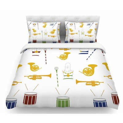 Marching Band by Stephanie Vaeth Illustration Featherweight Duvet Cover Size: Queen