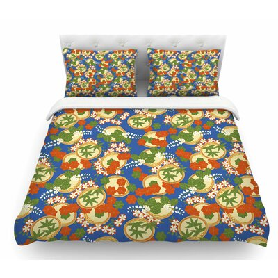 Clam and Paulownia by Setsu Egawa Featherweight Duvet Cover Size: Queen