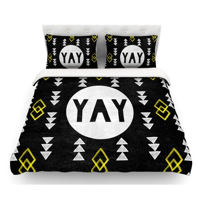 Yay by Skye Zambrana Featherweight Duvet Cover Size: Queen