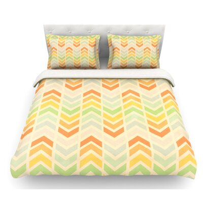 Infinity by Skye Zambrana Chevron Featherweight Duvet Cover Size: Queen