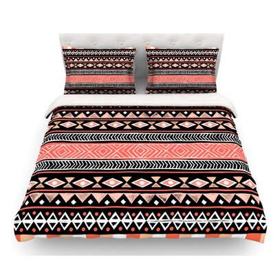 Mojave by Skye Zambrana Featherweight Duvet Cover Size: Queen, Color: Red/Black