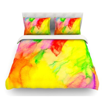 Chemical Lovestory by Sreetama Ray Featherweight Duvet Cover Size: King