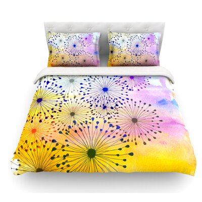 Bursting Blossoms by Sreetama Ray Featherweight Duvet Cover Size: Twin