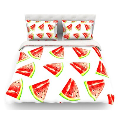 Summer Fun by Sreetama Ray Watermelon Featherweight Duvet Cover Size: Twin