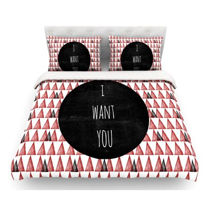 I Want You by Skye Zambrana Featherweight Duvet Cover Size: Queen
