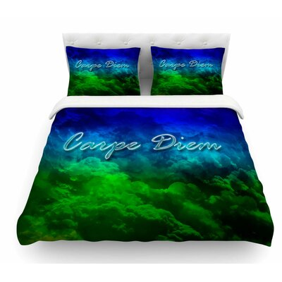 Carpe Diem by Shirlei Patricia Muniz Digital Featherweight Duvet Cover Size: Twin