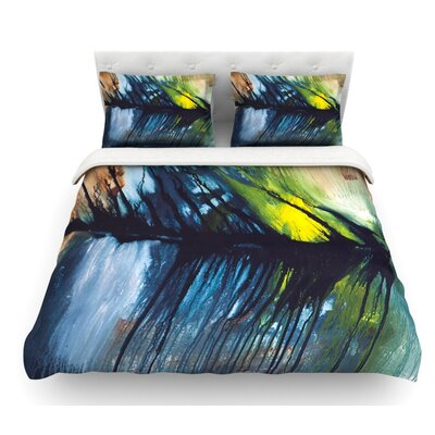 Gravity Falling by Steve Dix Featherweight Duvet Cover Size: Twin