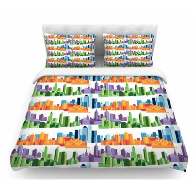Australian Cities by Stephanie Vaeth Featherweight Duvet Cover Size: Twin
