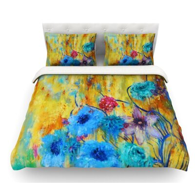 Cosmic Love Garden by Sonal Nathwani Featherweight Duvet Cover Size: Twin
