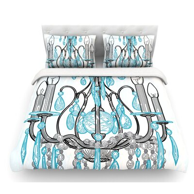 Chandelier by Sam Posnick Featherweight Duvet Cover Size: Queen