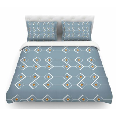 Diamonds by Stephanie Vaeth Modern Featherweight Duvet Cover Size: King