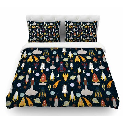 Rockets by Stephanie Vaeth Celestial Featherweight Duvet Cover Size: King