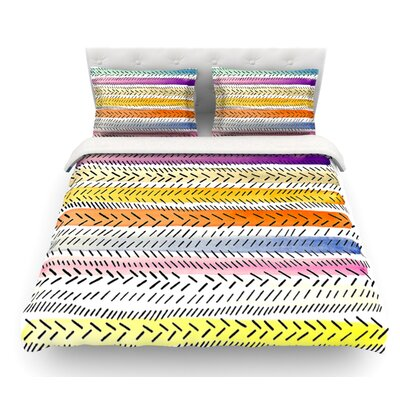 Dash 3 by Sreetama Ray Dashed Featherweight Duvet Cover Size: King