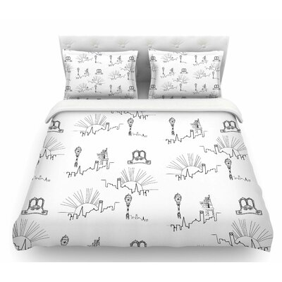 Neighborhood by Stephanie Vaeth Digital Featherweight Duvet Cover Size: Twin