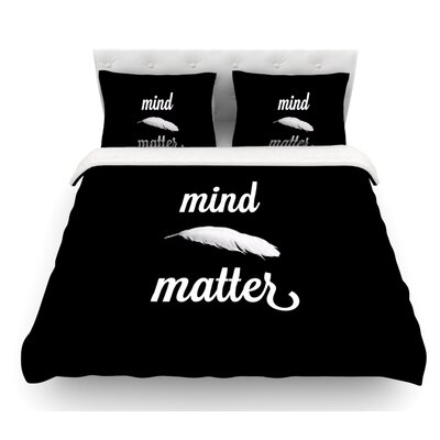 Mind Over Matter by Skye Zambrana Featherweight Duvet Cover Size: Twin