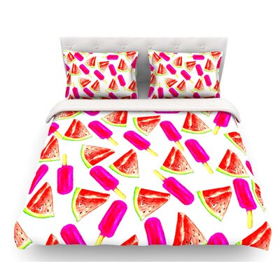 Strawberry and Watermelon by Sreetama Ray Featherweight Duvet Cover Size: Twin