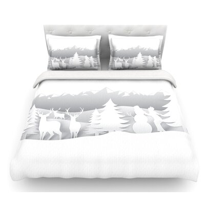 White as Snow by Snap Studio Simple Featherweight Duvet Cover Size: King