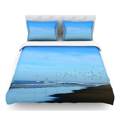 Beach Hair by Robin Dickinson Coastal Featherweight Duvet Cover Size: Twin