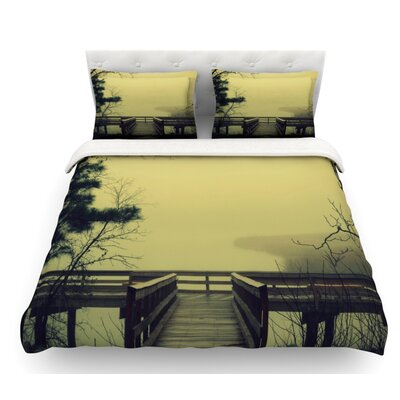 Fog on the River by Robin Dickinson Featherweight Duvet Cover Size: King