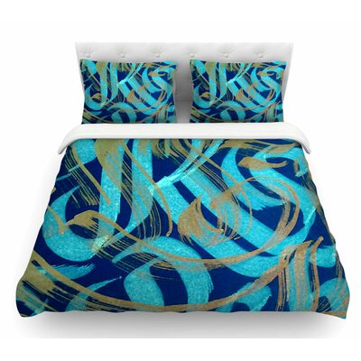 Strokes by Roberlan Featherweight Duvet Cover Size: Queen