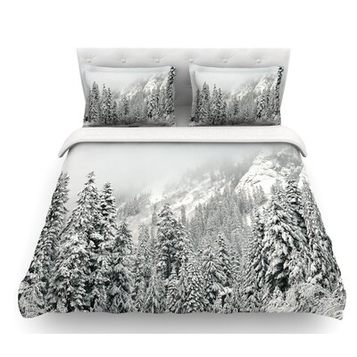 Winter Wonderland by Robin Dickinson Featherweight Duvet Cover Size: King