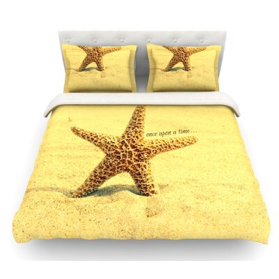 Once Upon a Time by Robin Dickinson Starfish Featherweight Duvet Cover Size: King