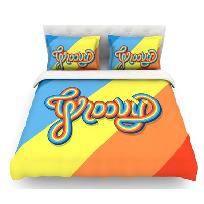 Groovy by Roberlan Featherweight Duvet Cover Size: Twin