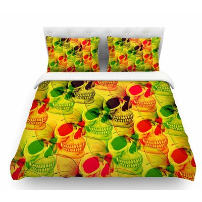 Skullfest by Roberlan Featherweight Duvet Cover Size: Queen