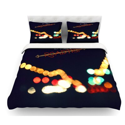 Road Trip by Robin Dickinson Featherweight Duvet Cover Size: Queen