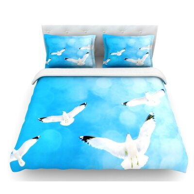 Fly Free by Robin Dickinson Birds and Sky Featherweight Duvet Cover Size: Twin