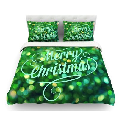 Merry Christmas by Robin Dickinson Featherweight Duvet Cover Size: Twin