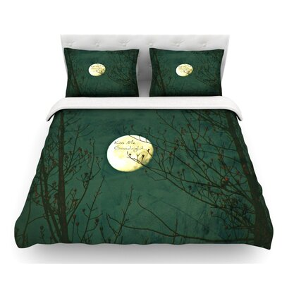 Kiss Me Goodnight by Robin Dickinson Featherweight Duvet Cover Size: Queen