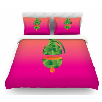 Fruit Grenade by Roberlan Featherweight Duvet Cover Size: Queen