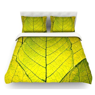 Every Leaf a Flower by Robin Dickinson Featherweight Duvet Cover Size: King
