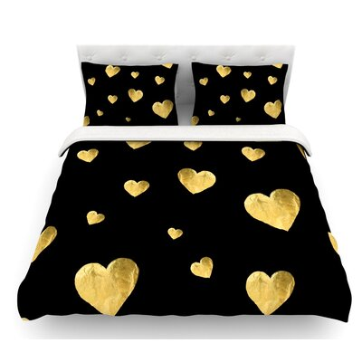 Floating Hearts by Robin Dickinson Featherweight Duvet Cover Size: King