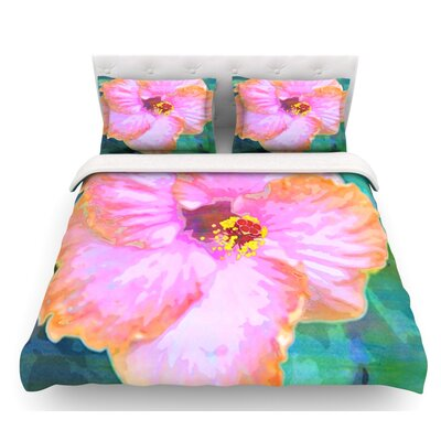 Hibiscus by Sylvia Cook Featherweight Duvet Cover Size: King